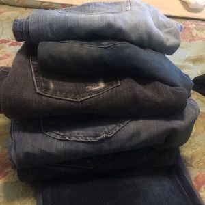 In conditions, five jeans for sale.